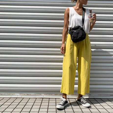 ColorリネンPants (yellow)