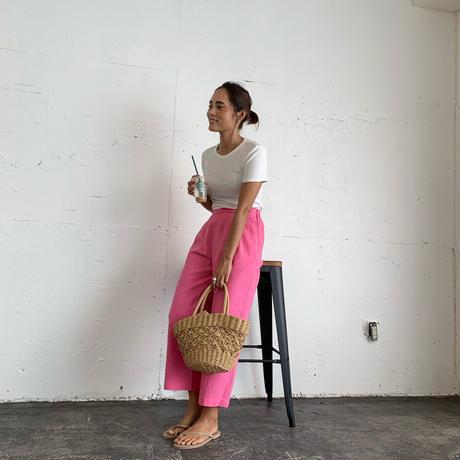 ColorリネンPants (pink)