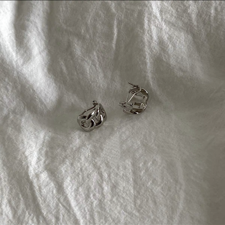 silver925 ツイストピアス