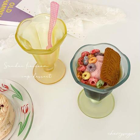 icecream sundae♡チューリップクリアカップ