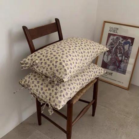 ラベンダーフラワーの枕カバー