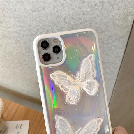刺繍の蝶々のオーロラケース