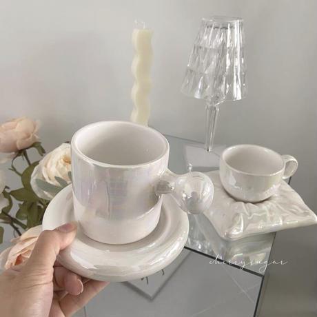 オーロラのカップ&ソーサー