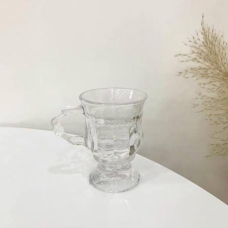 ミニサイズのクリアグラス