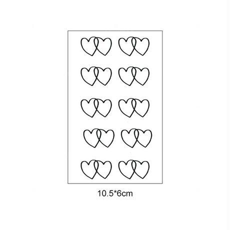 """タトゥーシール"""" W Heart """""""