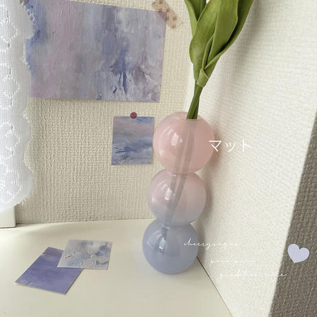【即納】ぽこぽこグラデーション フラワーベース