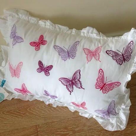 蝶々の枕&枕カバーセット