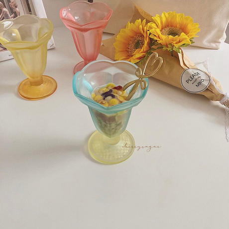 【bis7月号掲載】icecream sundae♡チューリップクリアカップ