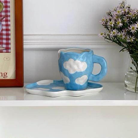 青空模様のマグカップ