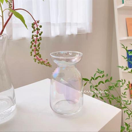 オーロラのガラス花瓶