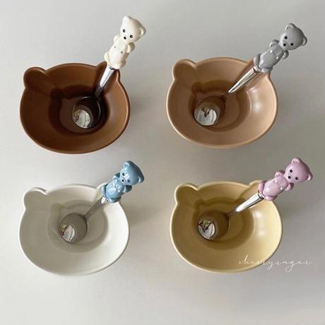 くまさんのマットな陶器のミニ器