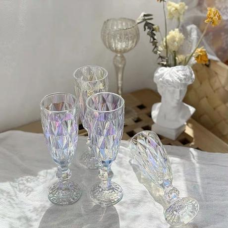 オーロラダイヤモンドカットのグラス
