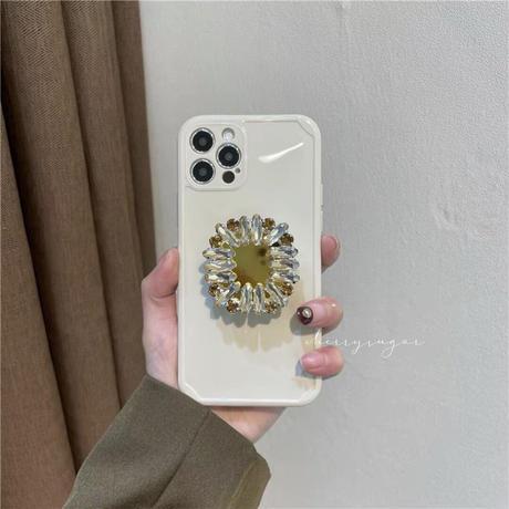 フラワービジューのiPhoneケース