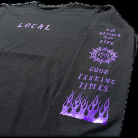 GOOD TIMES ORIGINALS   LOCAL   ロングスリーブシャツ ブラック/パープル