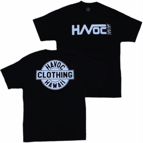 HAVOC HAWAII CLOTHING     HAVOC Tshirts     Black/White