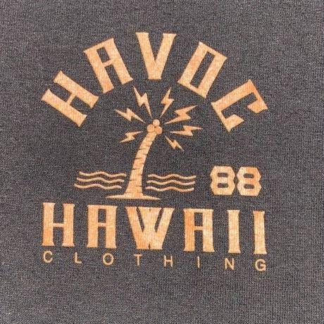 HAVOC HAWAII CLOTHING  HAVOC CITY T-shirts ブラック/カーキ
