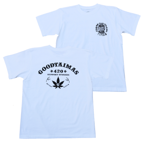 GOOD TIMES ORIGINALS   420 T-shirts   ホワイト/ブラック