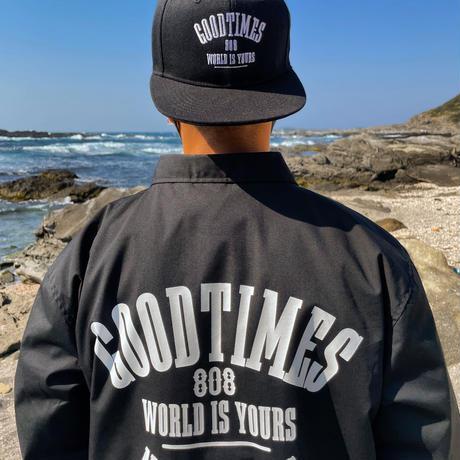 GOOD TIMES ORIGINALS    World IS Yours 808   コーチジャケット    ブラック/ホワイト