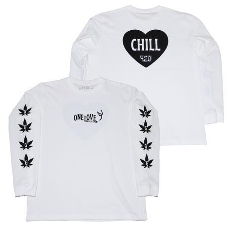 GOODTIMES ORIGINALS   ONE LOVE   ロングスリーブシャツ ホワイト/ブラック