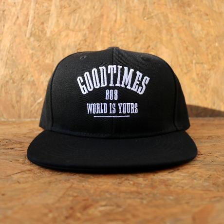 GOOD TIMES ORIGINALS   World Is Yours 808    スナップバックキャップ ブラック/ホワイト