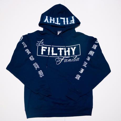 FILTHY Hawaii ペイズリーパーカー/ネイビーホワイト