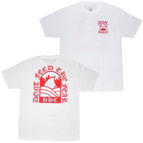 HAVOC HAWAII CLOTHING   SHARK    Tshirts   ホワイト/レッド