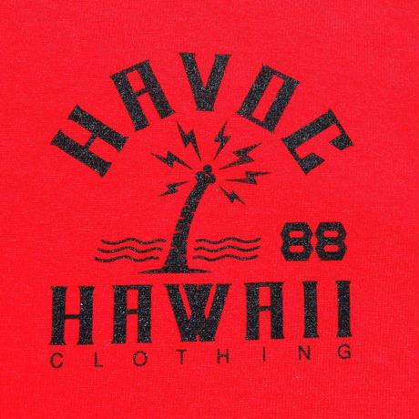 HAVOC HAWAII CLOTHING      HAVOC CITY T-shirts レッド/ブラック