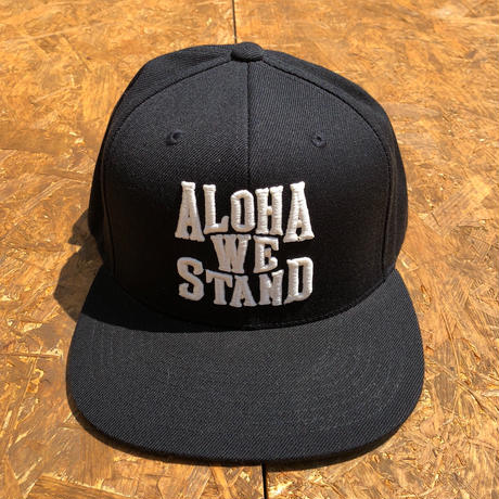 THE FIRM   ALOHA WE STAND  スナップバックキャップ ブラック/ホワイト