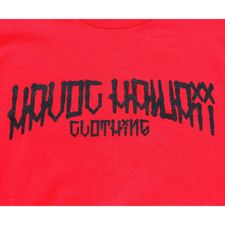HAVOC HAWAII CLOTHING        DARK PARADICE T-shirts レッド/ブラック