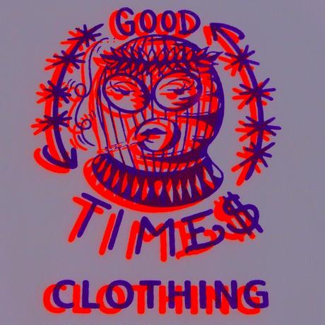 GOOD TIMES ORIGINALS    Hit the joint    ロングスリーブシャツ ホワイト/ネオンオレンジ, パープル