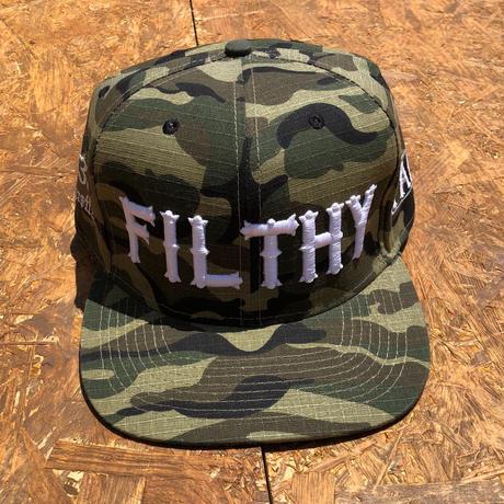 FILTHY HAWAII   Snap back Cap   カモフラ/ホワイト