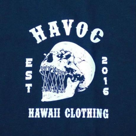 HAVOC HAWAII CLOTHING    SKULL    Tshirts ブラック/ホワイト