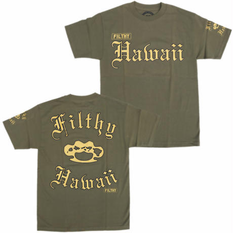 FILTHY HAWAII   Filthy Hawaii TSHIRTS カーキ/ブラック.ゴールド