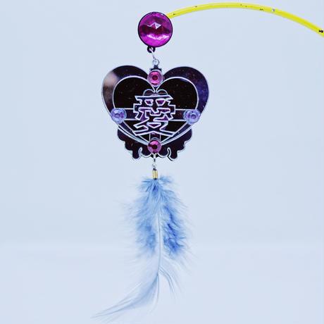 愛(片耳/BLK) ピアス/イヤリングSingle Earrings/Ear clips