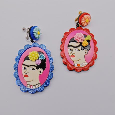 【両耳セット】Glitter Frida Khalo