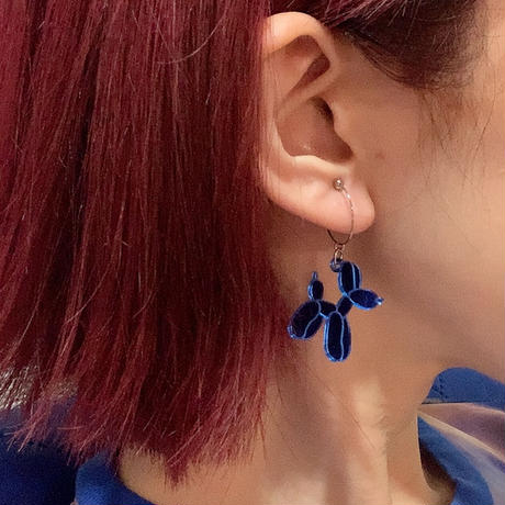 【両耳】犬のバルーン   Earrings /Ear Clips