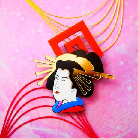 【片耳/ブローチ】Oiran  Brooch /Single earrings ・Ear clips