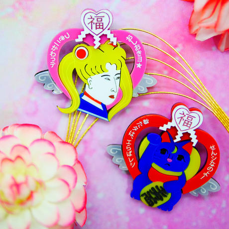 Ukiyoe-Sailor moon&Lucky Luna Earrings/Ear clips