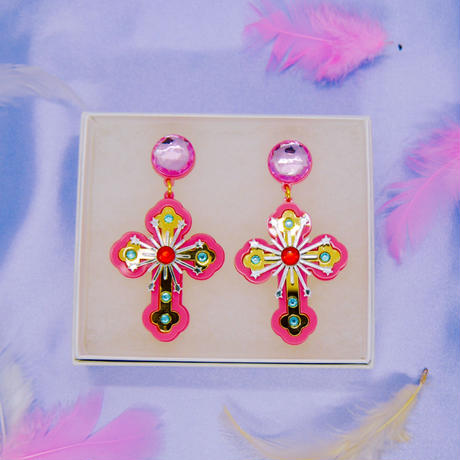 Cross Earrings/Ear clips