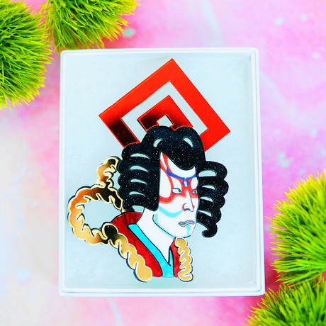 KABUKI Single Earring/Clip/Brooch 【片耳・ブローチ】