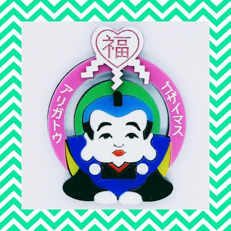 【片耳/ブローチ】福助  Brooch/Single Earrings