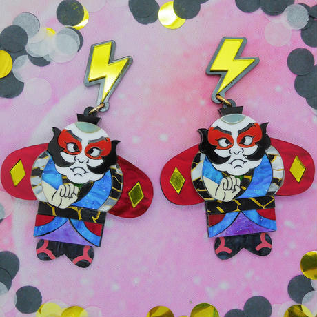 Yakko Dako Red Earrings/Ear clips