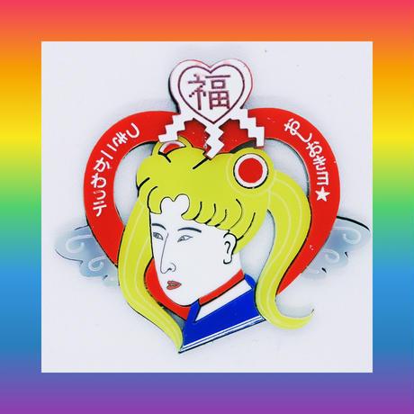 (廃盤)浮世絵美少女戦士RED(片耳)ピアス/イヤリング/ブローチUkiyoe-Sailor moon Brooch/Single Earrings・Ear clips  のコピー