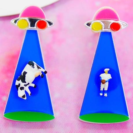 【両耳セット】BLUE キャトルミューティレーション Cattle Mutilation