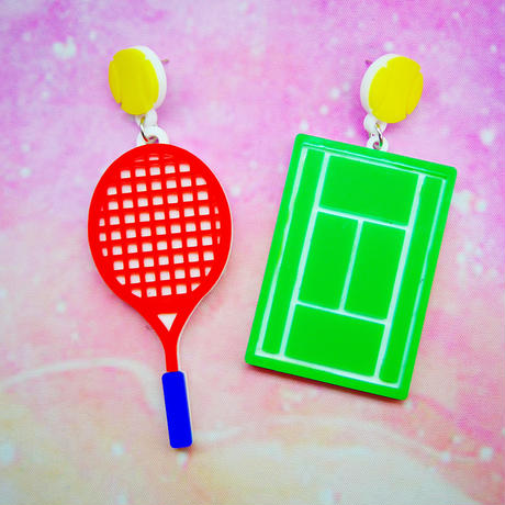 BIG Tennis Earrings/Ear clips