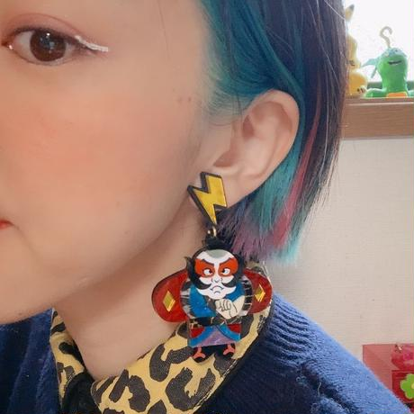 Yakko Dako Light Blue Single Earrings/Ear clips