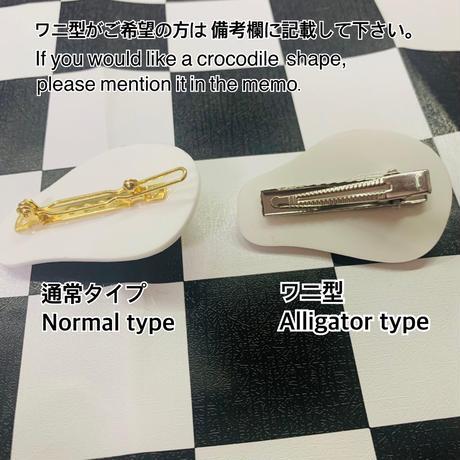 【ヘアクリップ/ブローチ】目玉焼き  Fried egg Hair clip/brooch
