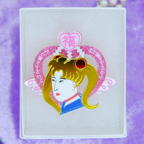 浮世絵美少女 Single Earrings・Ear clips/Brooch