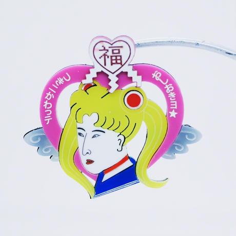 (廃盤)浮世絵美少女戦士(片耳)ピアス/イヤリング/ブローチUkiyoe-Sailor moon Brooch/Single Earrings・Ear clips