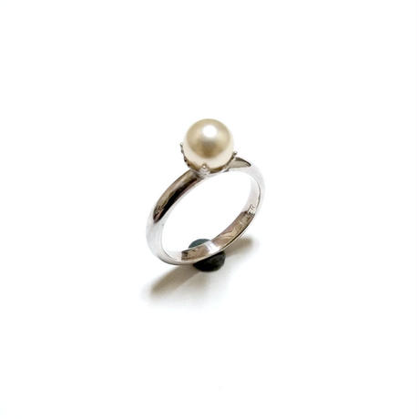 Crystal Pearl Ring(受注制作)